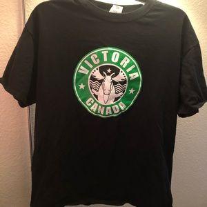 Victoria Canada Starbucks esque t-shirt